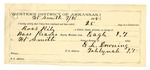 1889 July 26: Voucher, U.S. v. Ross Riley, assault with intent to kill; Bass Reeves, deputy marshal; Stephen Wheeler, commissioner; Long George, Jack Kirby, Bettie Taylor, George Chism; Fred Schwebke, posse comitatus; E.L. Downing, guard; includes cost of mileage, service, and feeding prisoner