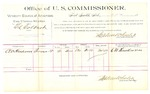 1889 July 25: Voucher, U.S. v. Ed Colbert, assault with intent to kill; C.W. Henderson, witness; Jacob Yoes, U.S. marshal; Stephen Wheeler, commissioner; includes cost of per diem and mileage