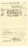 1889 July 29: Voucher, to Bomford Plumbing Co.; includes cost of repairs and service to U.S. Jail; S.A. William, chief deputy; Stephen Wheeler, clerk; I.M Dodge, deputy clerk; Jacob Yoes, U.S. marshal