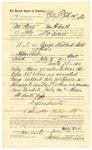 1889 July 31: Voucher, to Peter Tovey, of Fort Smith, Arkansas, for assisting L.P. Isbell, deputy marshal, in U.S. v. George Hubbard et al., assault; Stephen Wheeler, commissioner; Sam Goodall, arrested; Jacob Yoes, U.S. marshal