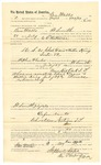 1889 August 5: Voucher, to Ben Walls, of Fort Smith, Arkansas, for assisting E.B. Ratterree, deputy marshal, in U.S. v. Charles Davis and Willie King, introducing and selling spiritous liquors; Stephen Wheeler, commissioner; I.M. Dodge, deputy clerk; Jacob Yoes, U.S. marshal