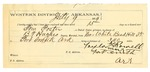 1889 August 1: Voucher, U.S. v. Tom Foster, introducing spiritous liquors; B.T. Hughes, deputy marshal; William Parker, posse comitatus; Taylor Parnell, guard; includes cost of mileage and feeding prisoner