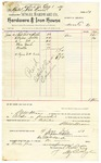 1889 July 19: Voucher, to Sengel Hardware Co.; includes cost for pad lock, staples, paper tacks, wire nails and needles, for use in the U.S. jail; S.A. Williams, chief deputy; Jacob Yoes, U.S. marshal; Stephen Wheeler, clerk; I.M. Dodge, deputy clerk