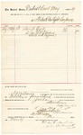 1889 August 5: Voucher, to Fort Smith Gas Light Company; includes cost for lamp glass; S.A. Williams, deputy marshal; Stephen Wheeler, clerk; I.M. Dodge, deputy clerk; C.W. Butterworth, of Fort Smith Gas Light Company