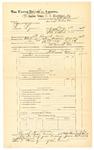1889 June 30: Voucher, U.S. v. Lewis Lyman, introducing and selling spiritous liquor; J.W. Salmon, deputy marshal; John Carroll, U.S. marshal; James Brizzolara, commissioner; includes cost of mileage
