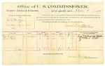 1889 October 8: Voucher, U.S. v. Joseph Crittenden, introducing spiritous liquor; Esan England, Leneh Scott, witnesses; Jacob Yoes, U.S. Marshal; James Brizzolara, commissioner; includes cost of per diem and mileage