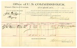 1889 October 9: Voucher, U.S. v. John DeLozier, perjury; J.L. Samm, James M. Samm, witnesses; Jacob Yoes, U.S. marshal; Stephen Wheeler, commissioner; includes cost of per diem and mileage