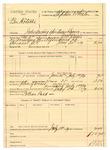 1889 October 11: Voucher, U.S. v. Ben Hatubbe, introducing spiritous liquors; J.M. Ennis, deputy marshal; Stephen Wheeler, commissioner; William Ladd, posse comitatus; includes cost of mileage and feeding prisoner