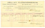 1889 October 11: Voucher, U.S. v. One St. John, introducing spirtuous liquors; Charles Proctor, Jim Nakedhead, witnesses; Jacob Yoes, U.S. marshal; Stephen Wheeler, commissioner; includes cost of per diem and mileage