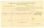 1889 October 12: Voucher, U.S. v. William Thomas, larceny; Thomas Long, witnesses; Jacob Yoes, U.S. marshal; James Brizzolara, commissioner; includes cost of per diem and mileage