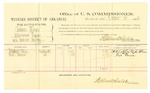 1882 October 14: Voucher, U.S. v. Pickens Benge, introducing spirtuous liquors; Mitchell Ellas, Fred Turner, witnesses; Thomas Boles, U.S. marshal; Stephen Wheeler, commissioner; includes cost of per diem and mileage
