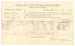 1889 October 21: Voucher, U.S. v. Pickens Seabolt, introducing spiritous liquor; Mary Furr, John Furr, J.L. Ewing, George Blair, witnesses; Jacob Yoes, U.S. marshal; James Brizzolara, commissioner; includes cost of per diem and mileage