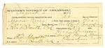 1889 August 2: Voucher, U.S. v. Aaron King, larceny; Bass Reeves, deputy marshal; William Claridy, witness; Fred Schwebke, posse comitatus; Perry Bruner, guard; includes cost of mileage and subsistence for self and prisoner