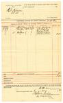 1889 August 6: Voucher, U.S. v. Kit Karson et al.; D.M. Lee, deputy marshal; L.E. Wybark, G.W. Burton, Henry Cook, J.T. Derawey, J.W. Breedlove, witnesses; includes cost of mileage and service