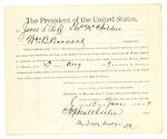 1889 August 05: Subpoena, to James L. Roff, Thomas McChilders and William B. Barnard, in U.S. v. Michell Corbell; Stephen Wheeler, clerk; I.M. Dodge, deputy clerk