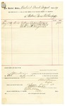 1889 August 13: Voucher, to Waters Pierce Oil Company; includes cost for oil used at U.S. jail; S.A. William, deputy marshal; Stephen Wheeler, clerk; I.M. Dodge, deputy clerk; Jacob Yoes, U.S. marshal