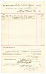 1889 August 13: Voucher, to Bloch, McCombs & Co.; includes cost for sun chimneys used at U.S. jail; S.A. William, deputy marshal; Stephen Wheeler, clerk; I.M. Dodge, deputy clerk; Jacob Yoes, U.S. marshal