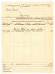 1889 August 20: Voucher, U.S. v. Caesar James, perjury; S. P. McLaughlin, deputy marshal; Boston Barnett, witness; Pero Bruner, witness in U.S. v. Ross Riley; includes cost of mileage and service