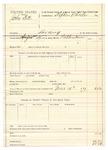 1889 August 20: Voucher, U.S. v. John Fitts, larceny; R.B. Creekmore, deputy marshal; Stephen Wheeler, commissioner