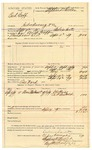1889 December 31: Voucher,  U.S. v. Bud Goff, introducing and selling spiritous liquors; Calvin Carter, deputy marshal; Jacob Yoes, U.S. marshal; J.H. Price, A.P. Seabolt, witnesses; Oss Ward, posse comitatus; Stephen Wheeler, clerk; I.M. Dodge, deputy clerk; includes cost of mileage, service and feeding prisoner