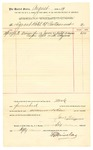 1889 September 27: Voucher, to Le Grand Hotel and Restaurant; includes cost of 13 meals for jurors and bailiff; Jacob Yoes, U.S. Marshal