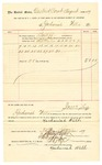 1889 September 30: Voucher, to Zachariah Wells; includes cost for services rendered as bailiff in U.S. court; Jacob Yoes, U.S. marshal; Stephen Wheeler, clerk; I.M. Dodge, deputy clerk