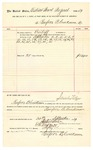 1889 September 30: Voucher, to Renfroe B. Creekmore; includes cost for services rendered as bailiff in U.S. court; Jacob Yoes, U.S. marshal; Stephen Wheeler, clerk; I.M. Dodge, deputy clerk