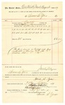 1889 September 30: Voucher, to Isaac S. Yoes; includes cost for services rendered as bailiff in U.S. court; Jacob Yoes, U.S. marshal; Stephen Wheeler, clerk; I.M. Dodge, deputy clerk