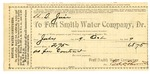 1889 October 1: Bill, from Fort Smith Water Company, to U.S. Jail, for use of water