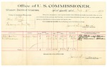 1889 October 5: Voucher, U.S. v. John Kemp, larceny; Alfred Walker, M. McMinemans, witnesses; Jacob Yoes, U.S. marshal; James Brizzolara, commissioner; includes cost of per diem and mileage