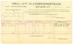 1889 October 5: Voucher, U.S. v. David Sterman, violation U.S. internal revenue law; Thomas P. Reed, Edward D. Carlisle, witnesses; Jacob Yoes, U.S. marshal; E.B. Harrison, commissioner; includes cost of per diem and mileage