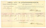 1889 October 7: Voucher, U.S. v. John Means, larceny; L.C. Slaughter, Andrew Sissney, witnesses; Jacob Yoes, U.S. marshal; Stephen Wheeler, commissioner; includes cost of per diem and mileage