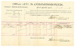 1889 October 8: Voucher, U.S. v. Israel Poorboy, introducing spirtuous liquors; J.T. Fagan, James Fagan, witnesses; Jacob Yoes, U.S. marshal; Stephen Wheeler, commissioner; includes cost of per diem and mileage