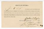 1890 January 1: Oath of office, John C. West, deputy marshal; I.C. Parker, judge