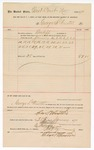 1890 January 31: Voucher, to George S. Winston; includes cost of service as baliff; Stephen Wheeler, clerk; J.M. Dodge; Jacob Yoes, U.S. marshal