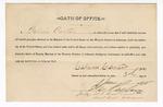 1890 January 3: Oath of office, Calvin Carter, deputy marshal; I.C. Parker, judge