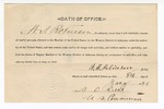 1890 January 8: Oath of office, W.S. Robinson, deputy marshal; S.O. Dent, commissioner