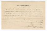 1890 January 9: Oath of office, A.K. Sawyers, deputy marshal; J.M. Karneb, notary public