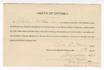 1890 January 9: Oath of office, Charles D. Horn, deputy marshal; J.C. Hall, commissioner