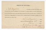 1890 February 15: Oath of Office, T.J. Taylor, deputy marshal; Gregory A. Sears, commissioner; Jacob Yoes, U.S. marshal