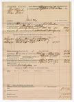 1890 April 4: Voucher, U.S. v. Thomas Welch (alias Keno), introducing spiritous liqour; includes cost of mileage, lodging, and subpoena; C.L. Bouden, deputy marshal; Robert Cogburn, guard; Stephen Wheeler, commissioner