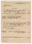 1890 April 15: Voucher, U.S. v. Jeff Robinson, introducing spiritous liqour; includes cost of lodging, witnesses, and subpoena; Mark Little, deputy marshal; Aaron Butler, guard; Aaron Butler, John Rattling Gourd, witnesses; E.B. Harrison, commissioner