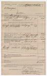 1890 April 21: Voucher, U.S. v. G. Mangus, introducing spirituous liquors; includes cost of mileage and feeding prisoner; Stephen Wheeler, commissioner; Joe Childers, Alf McCay, witnesses; B.T. Shelburn, deputy marshal; I.M. Dodge, deputy clerk