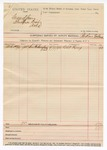 1890 April 9: Voucher, includes cost of mileage; Paden Tolbert, deputy marshal; G.W. Ray, witness