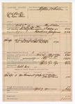 1890 April 7: Voucher, U.S. v. W.S. Carter (alias Dan Tehee); includes cost of lodging and feeding prisoner; William Miller, J.B. McLane, witnesses; Floyd Wilson, deputy marshal; Robb Cox, posse comitatus; Stephen Wheeler, commissioner