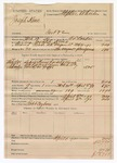 1890 April 4: Voucher, U.S. v. Joseph Keno, introducing spiritous liquors; includes cost of mileage, feeding prisoner, and lodging; C.L. Bouden, deputy marshal; Robert Cogburn, posse comitatus