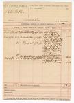 1890 April 21: Voucher, U.S. v. One Hafler, murder; includes cost of subpoenas; W.N. Stewart, deputy marshal; Alf Oyler, George Shields, W.J. Thurnton, Martha Gibson, John R. Shields, Caswell Shields, T.J. McGhee, David McGhee, Jeff Fields, Hud Fields,  John Evans, Nancy Evans, Ed Sloan, A.J. Teslerman, Dr. Garthers, Ezekiel Fields, N.M. Perryman, J.V. Vanhauser, witnesses
