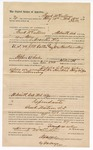 1890 December 2: Voucher, to Frank McCullom, of Fort Smith, Arkansas, for assisting Crowder Nix, deputy marshal, in U.S. v. J.M. Carter (alias John Hawkins); Stephen Wheeler, commissioner; Jacob Yoes, U.S. marshal