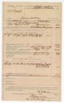 1890 April 23: Voucher, U.S. v. W.L. Daniels, assault with intent to kill; includes cost of warrant, lodging, witnesses, and feeding prisoner; Melvina Daniels, D.M. Choate, Sarah Choate, witnesses; E.B. Ratterree, deputy marshal; Stephen Wheeler, clerk; J.M. Dodge; Jacob Yoes, U.S. marshal