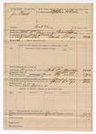 1890 April 05: Voucher, U.S. v. Joe Wind, introducing spiritous liqours; includes cost of warrant, mileage, feeding prisoner; G. Johnson, deputy marshal; Robert Morris, posse comitatus; Stephen Wheeler, commissioner